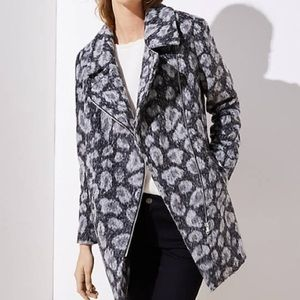 LOFT | NWOT Spotted Motto Coat